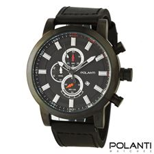 Picture of Polanti Rogue Mens Chrono Black Stainless Steel watch
