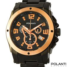 Picture of Polanti Zone Mens Chronograph Black Stainless Steel
