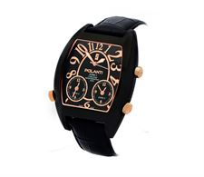 Picture of Polanti 3TimeZone Mens Black/Rose Stainless Steel