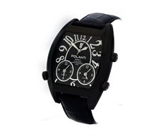 Picture of Polanti 3TimeZone Mens Black Edition Stainless Steel