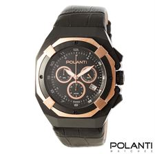 Picture of Polanti Valiant Mens Chronograph Black/Rose Stainless Steel